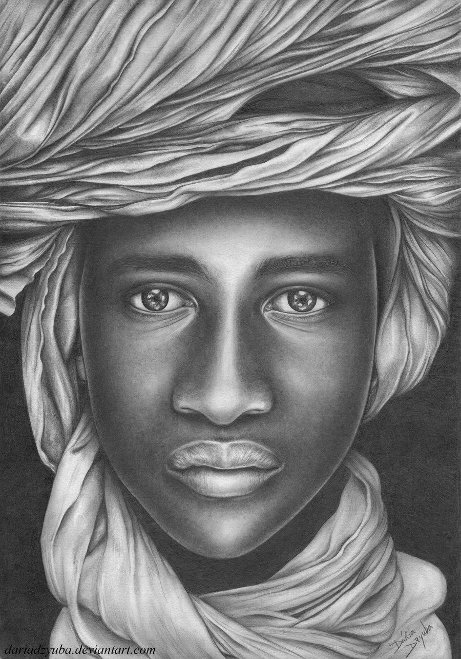 dear_africa_by_dariadzyuba Stunningly And Incredibly Realistic Pencil Portraits