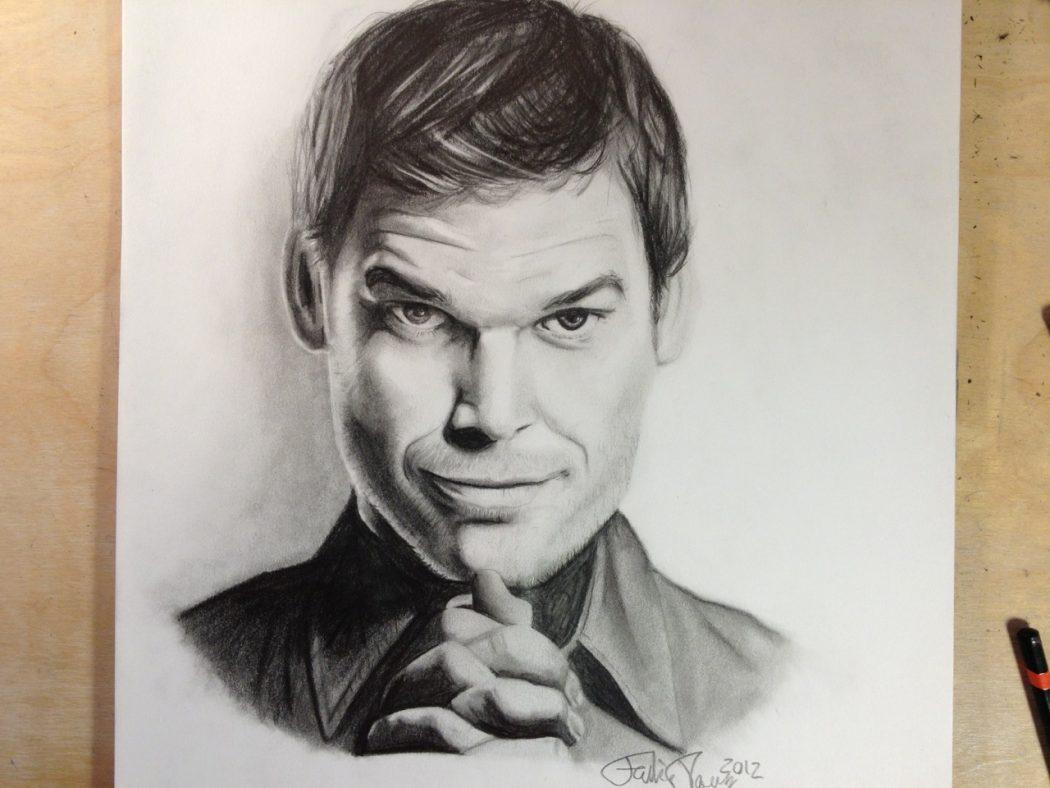 dexter_morgan__michael_c__hall__pencil_portrait__by_plesnerportraitart-d5h5c2w Stunningly And Incredibly Realistic Pencil Portraits