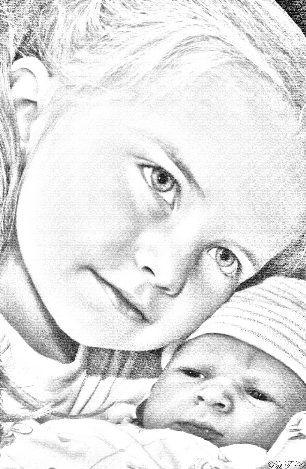 dylan-and-emilyPhoto-pop-pencil-sketch-1 Stunningly And Incredibly Realistic Pencil Portraits