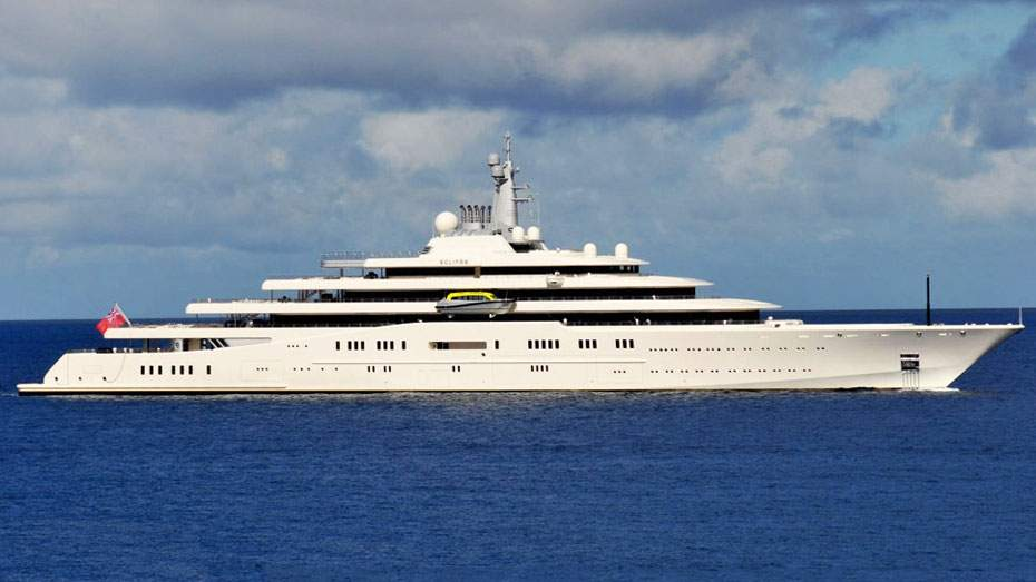 eclipse-yacht 15 Most luxurious Yachts in The World
