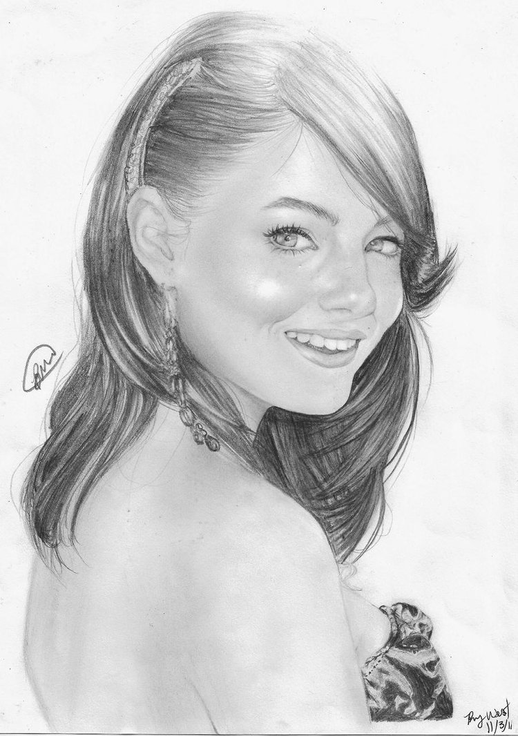 emma_stone_by_brandymarie87-d4f0wdf Stunningly And Incredibly Realistic Pencil Portraits