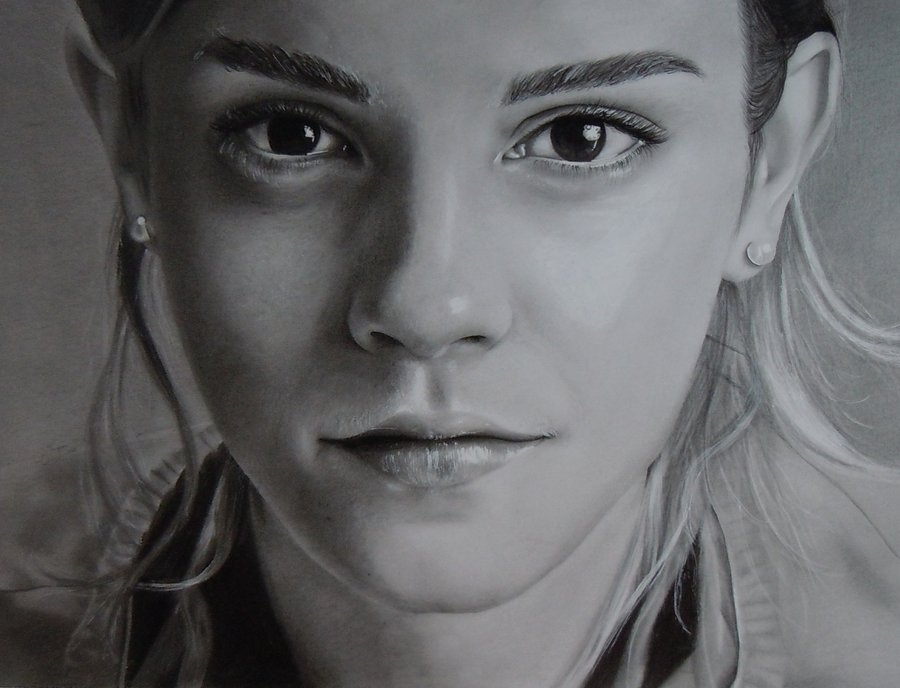 emma_watson_drawing_by_s_finnegan-d4m67v7 Stunningly And Incredibly Realistic Pencil Portraits