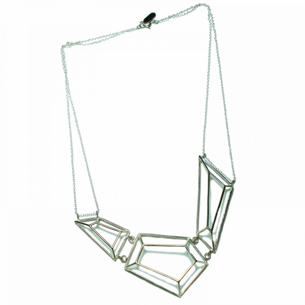 geometric-silver-necklace 15 Most Stylish Architectural Jewelry