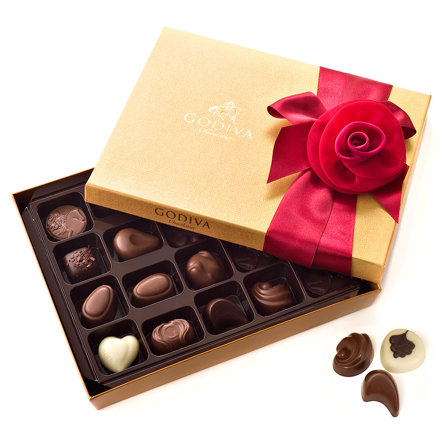 godiva-romantic-decorated-gold-box-20-chocolates 35 Most Mouthwatering Romantic Chocolate Gifts