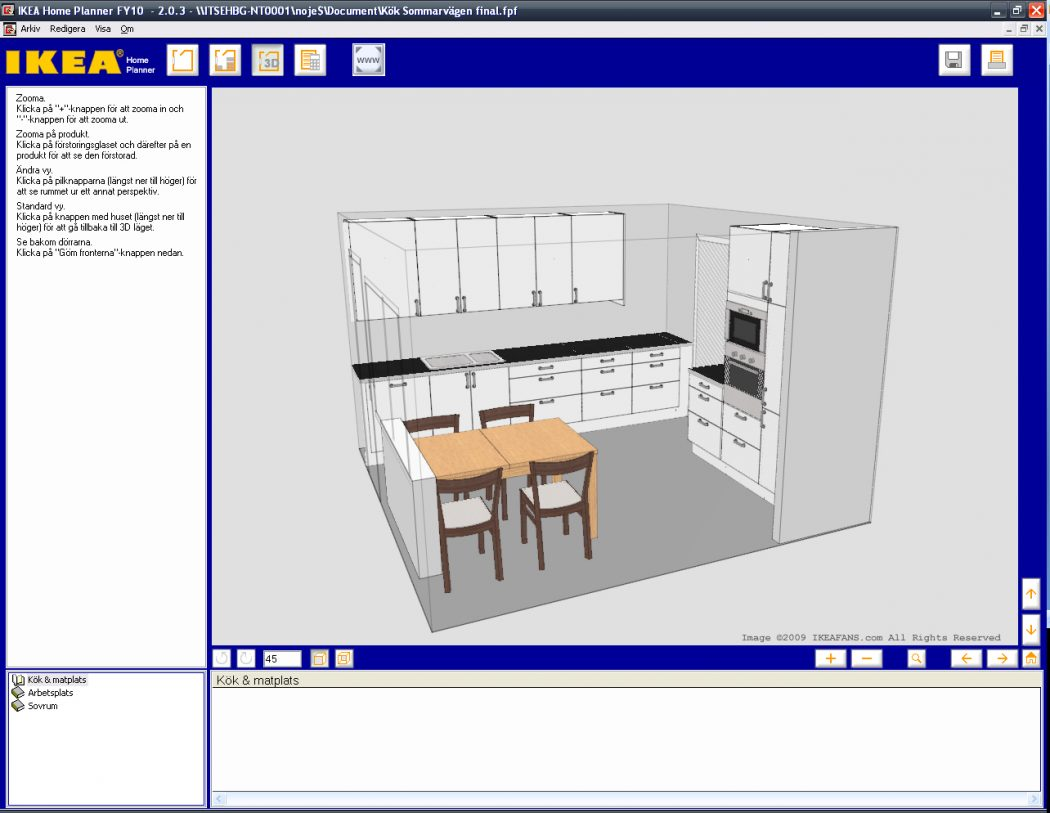 Virtual kitchen autodesk dragonfly online 3d for Virtual home software