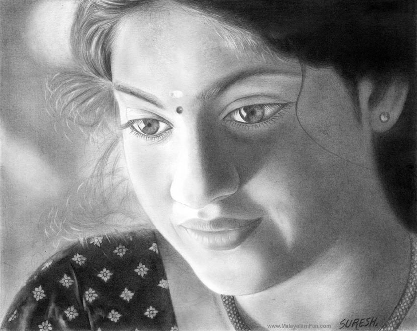 indian Stunningly And Incredibly Realistic Pencil Portraits