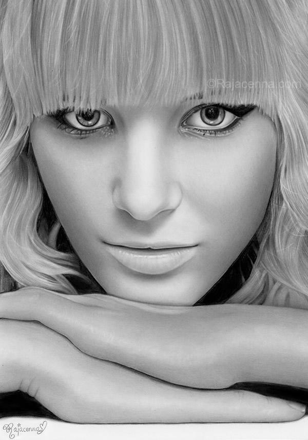 magical-eyes-Rajacenna Stunningly And Incredibly Realistic Pencil Portraits