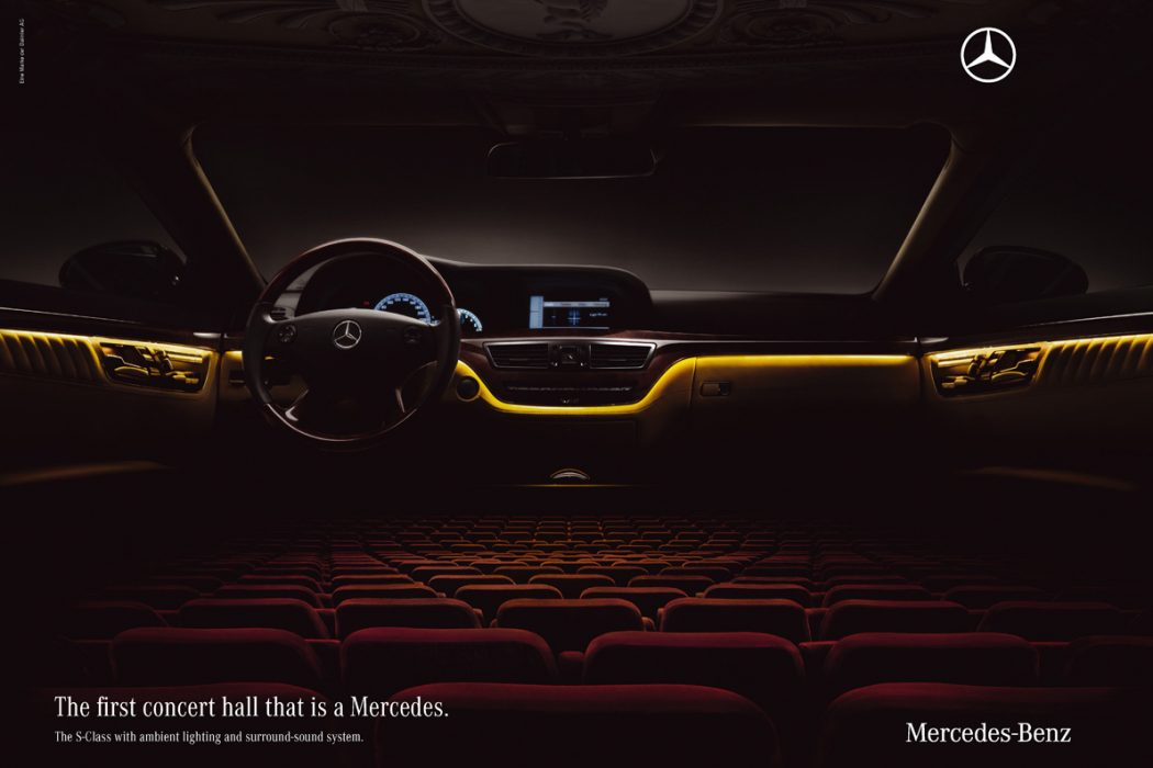 mercedesconcerthall 40 Most Creative and Dazzling Auto Ads