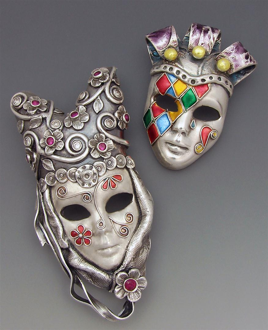 metal-shaped-masks Stunning and Unique Clay Art Project Ideas