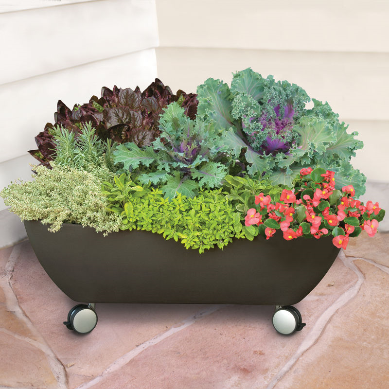 mobilepatiogarden1 10 Fascinating and Unique Ideas for Portable Gardens