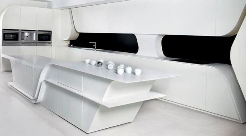 modern-futuristic-kitchen-design-with-matte-laminate-white-by-a-cero-2 Top 25 Futuristic Kitchen Designs