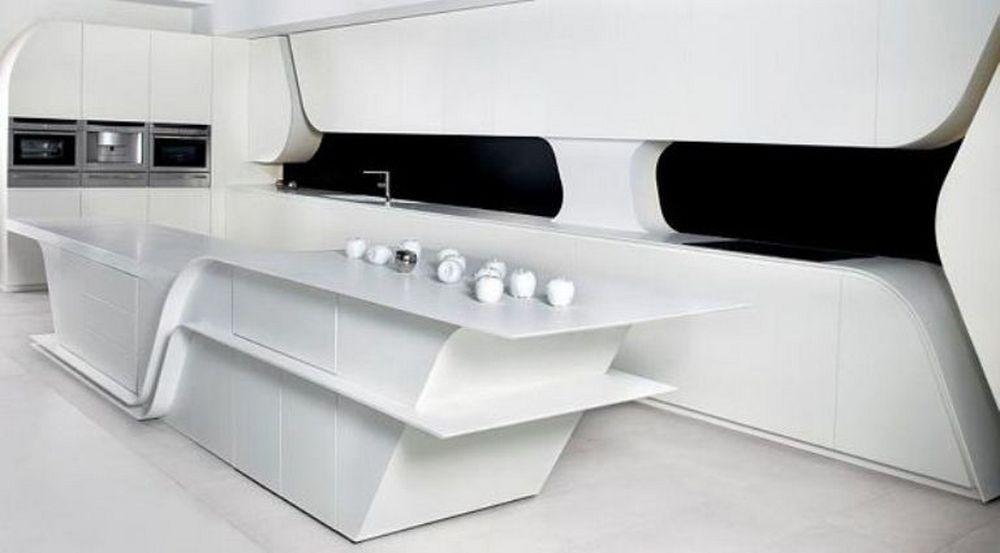 modern-futuristic-kitchen-design-with-matte-laminate-white-by-a-cero-2 Top 25 Futuristic Kitchen Designs