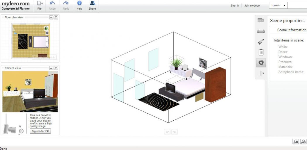 my-deco-3d-planner-interface Top 15 Virtual Room software tools and Programs
