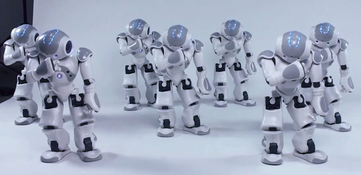 nao Are you stressed? Watch these Robots Dancing Gangnam Style