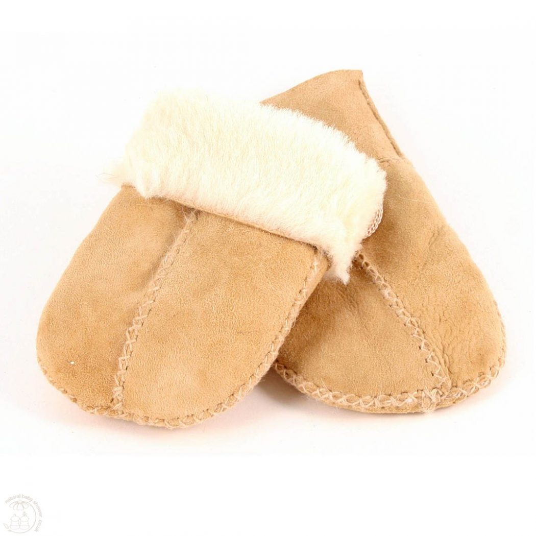 nbs_sheepskin_baby_mittens_sand Best 25 Baby Shower Gifts