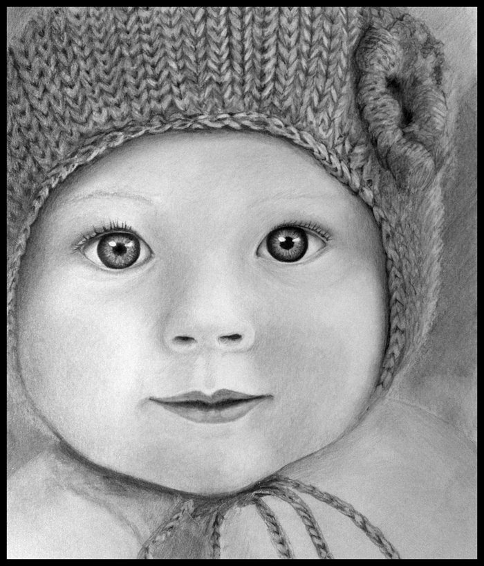 oh-baby-those-eyes Stunningly And Incredibly Realistic Pencil Portraits