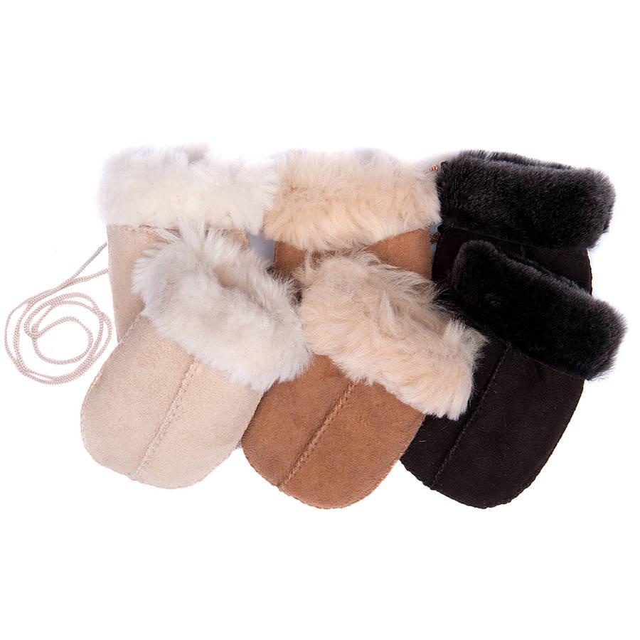 original_baby-sheepskin-puddy-mittens-on-string Best 25 Baby Shower Gifts