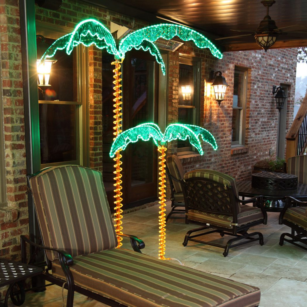 outdoor-led-deluxe-palm-trees LEDs 10 uses in Architecture