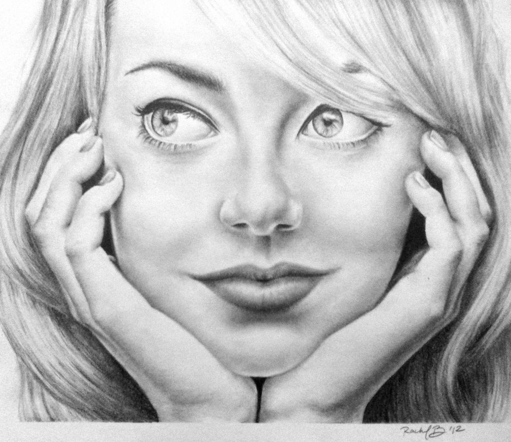 pencil_drawing_of_emma_stone_by_rachelbrom-d59c0zj Stunningly And Incredibly Realistic Pencil Portraits