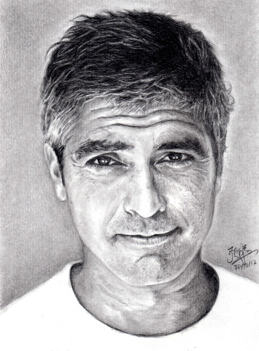 pencil_portrait_of_george_cluny_by_chaseroflight-d5jj2o1 Stunningly And Incredibly Realistic Pencil Portraits