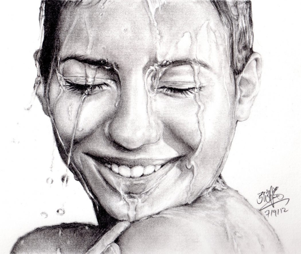 pencil_portrait_of_girl_with_wet_face_by_chaseroflight-d5h5ysz Stunningly And Incredibly Realistic Pencil Portraits
