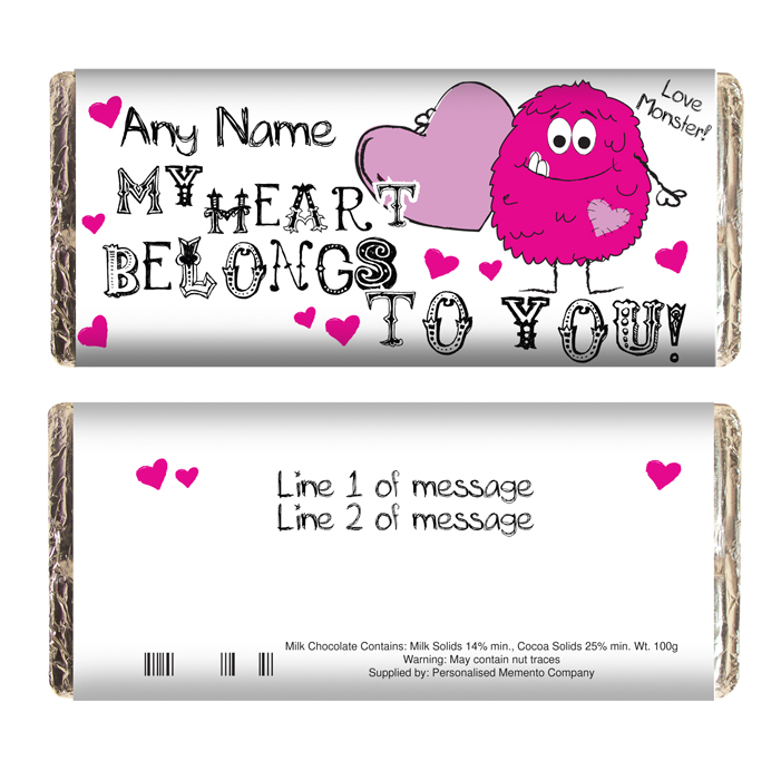 personalised-chocolate-monster-heart-42152-p 35 Most Mouthwatering Romantic Chocolate Gifts