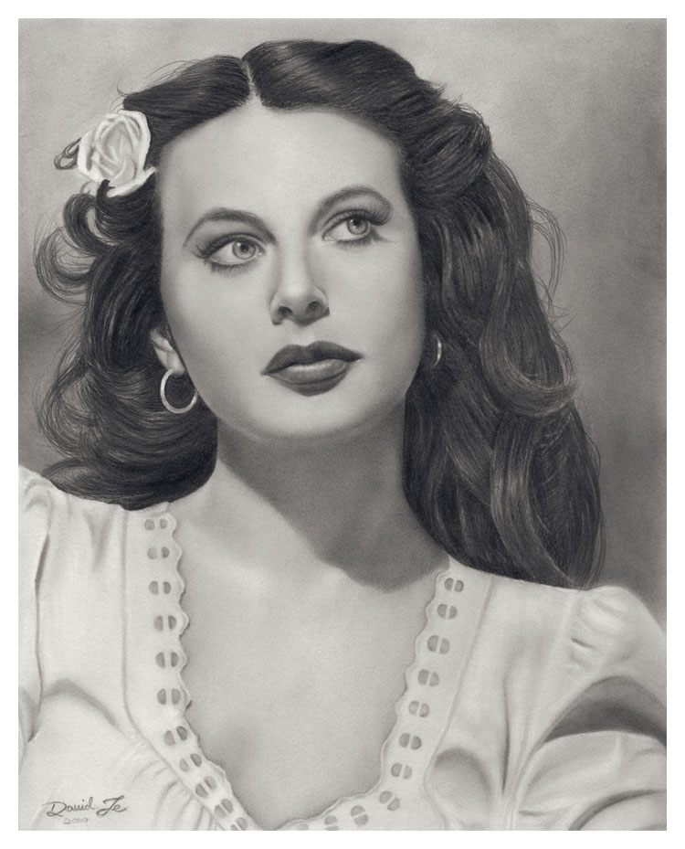 portrait-hedy-lamarr-pencil-drawing-david-te Stunningly And Incredibly Realistic Pencil Portraits
