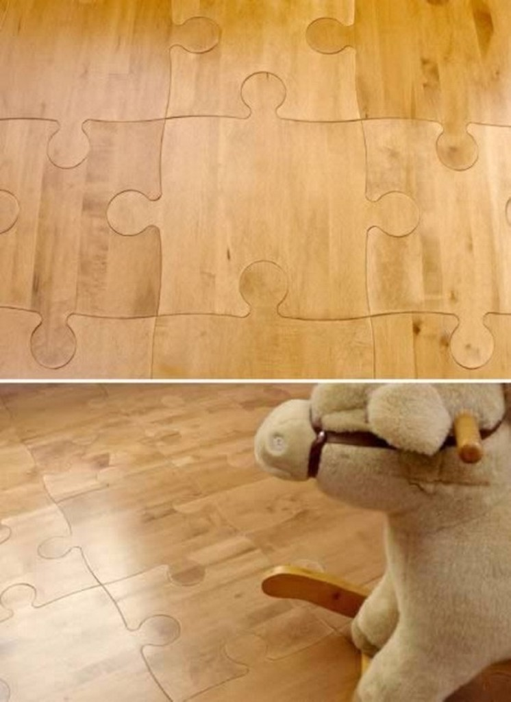 puzzle-floor-tiles. 10 Most Unique Flooring Designs For Exhibition