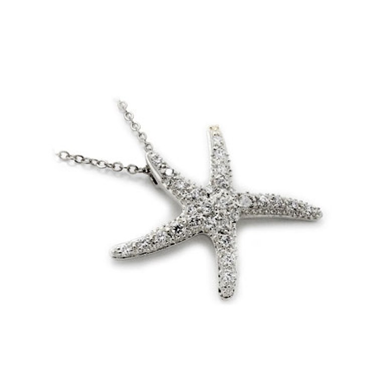 reneas-sterling-silver-cubic-zirconia-starfish-necklace Best 30 Inspiring Jewelry Designs