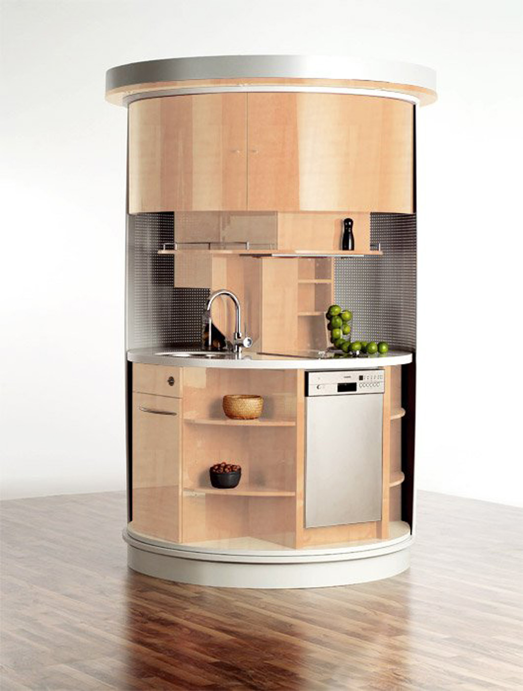 round-fashionable-kitchen-appliance-designs Top 25 Futuristic Kitchen Designs