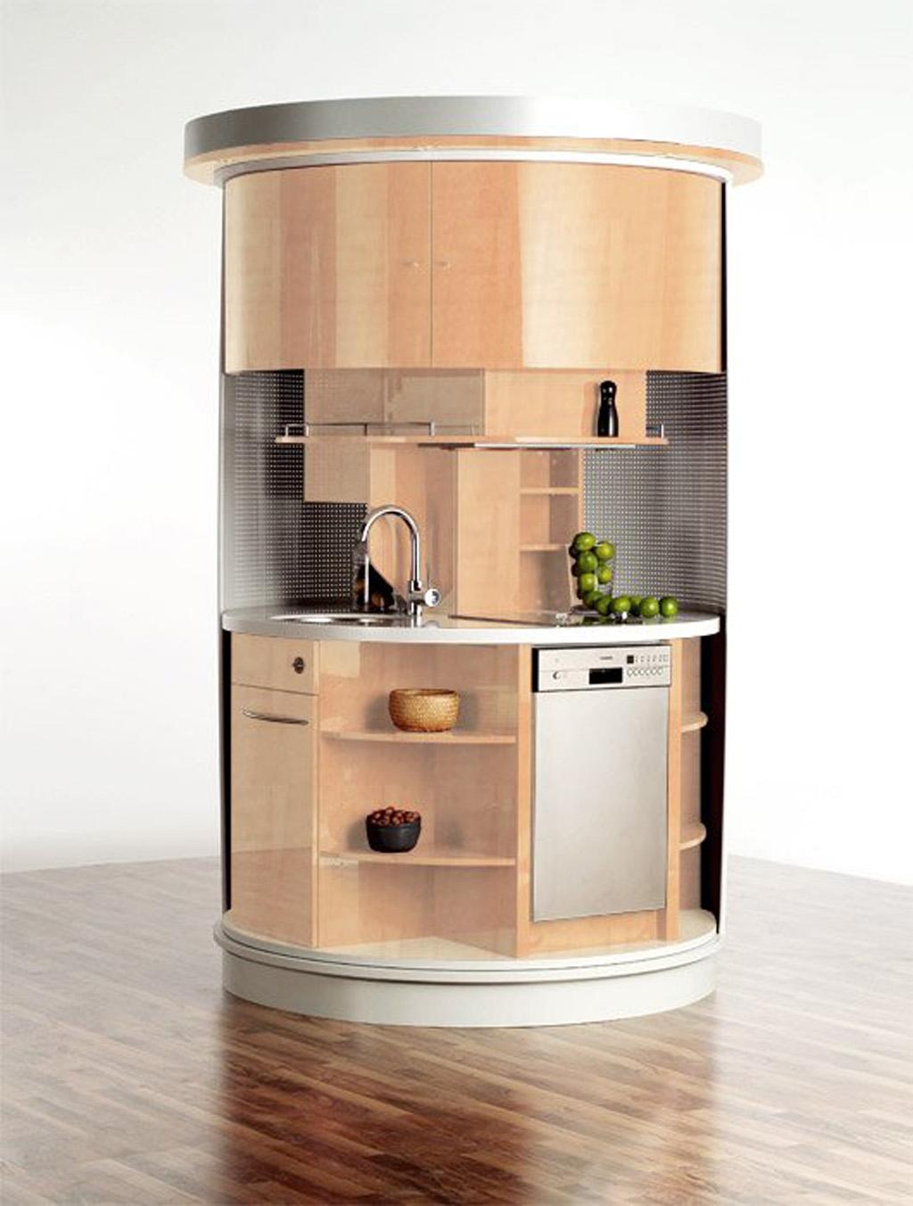 round-fashionable-kitchen-appliance-designs Top 25 Futuristic Kitchen Designs