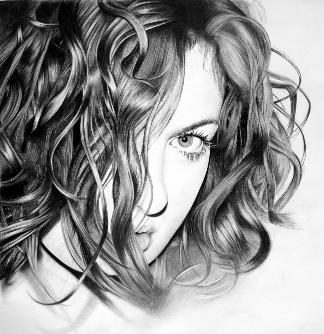 self_portrait_by_laura Stunningly And Incredibly Realistic Pencil Portraits