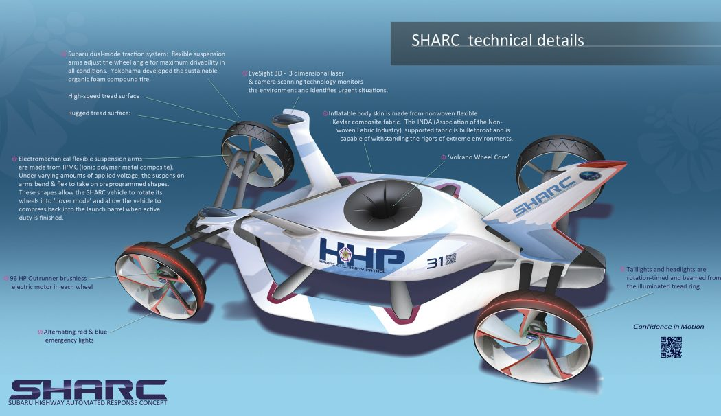 sharc-subaru-highway-automated-response-concept-large5 15 Futuristic Emergency Auto Design Ideas
