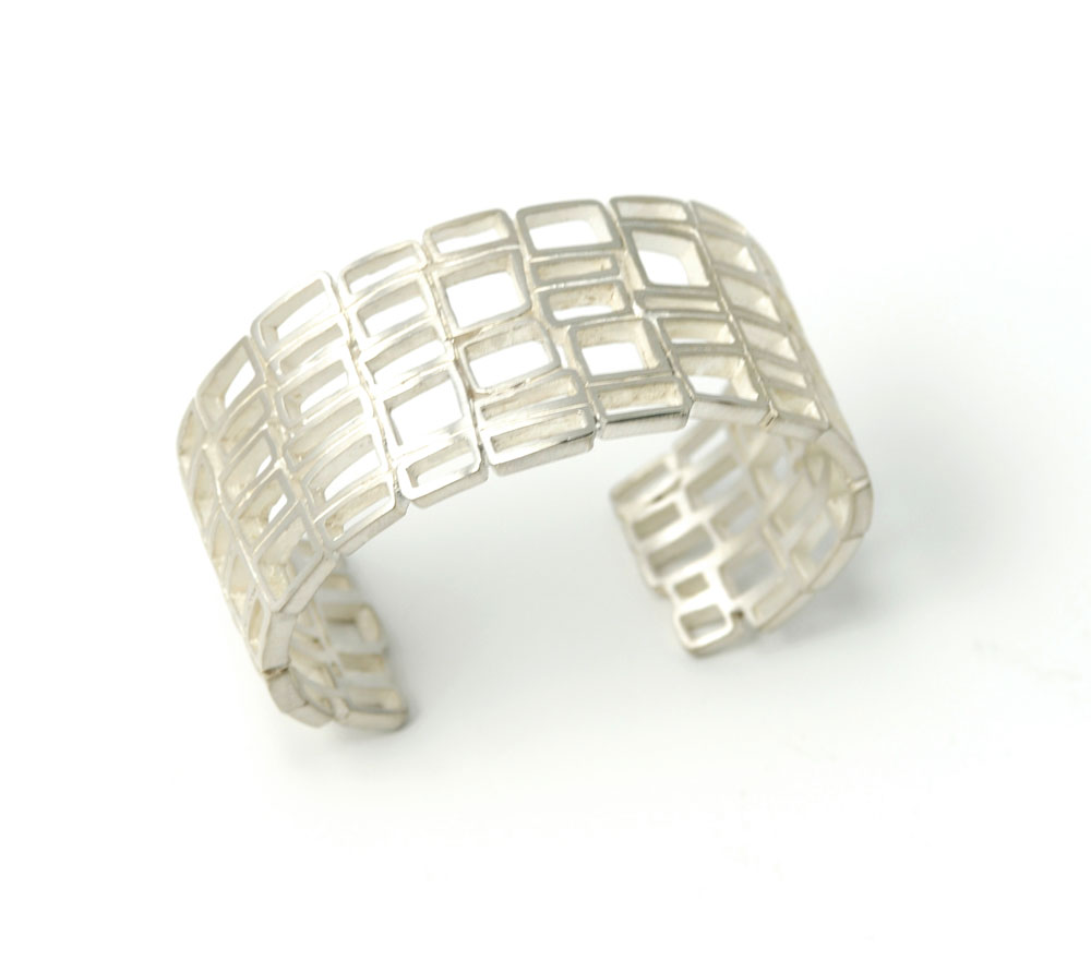 silver-divided-window-cuff 15 Most Stylish Architectural Jewelry