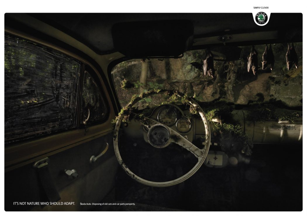 skoda-auto_bats_1 40 Most Creative and Dazzling Auto Ads