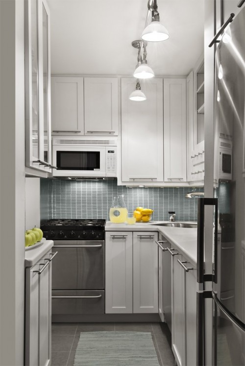 """small-kitchen-design-5-500x747 The Problem Of Your Small Kitchen Solved By the """" Compact """" Design"""