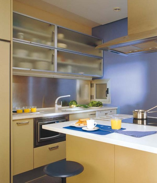 """small-kitchen-design-6-500x583 The Problem Of Your Small Kitchen Solved By the """" Compact """" Design"""
