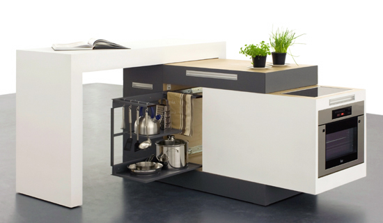 """small-modular-kitchen The Problem Of Your Small Kitchen Solved By the """" Compact """" Design"""