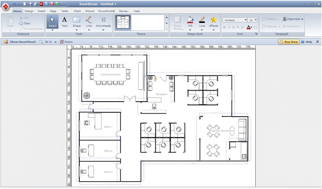 smartdraw_office Top 15 Virtual Room software tools and Programs
