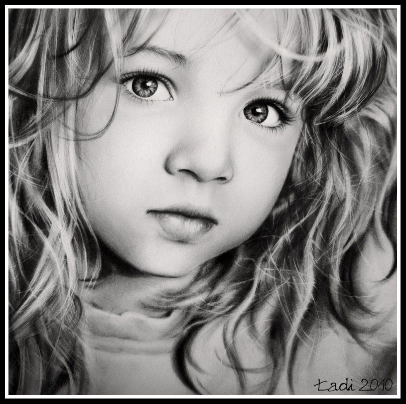 sweet-girl Stunningly And Incredibly Realistic Pencil Portraits