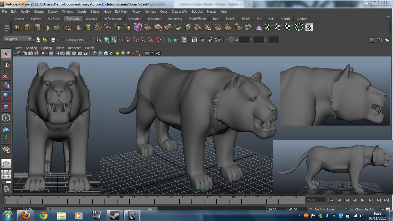 tiger_v2_with_autodesk_maya_by_leomon9 Top 15 3D Design Software