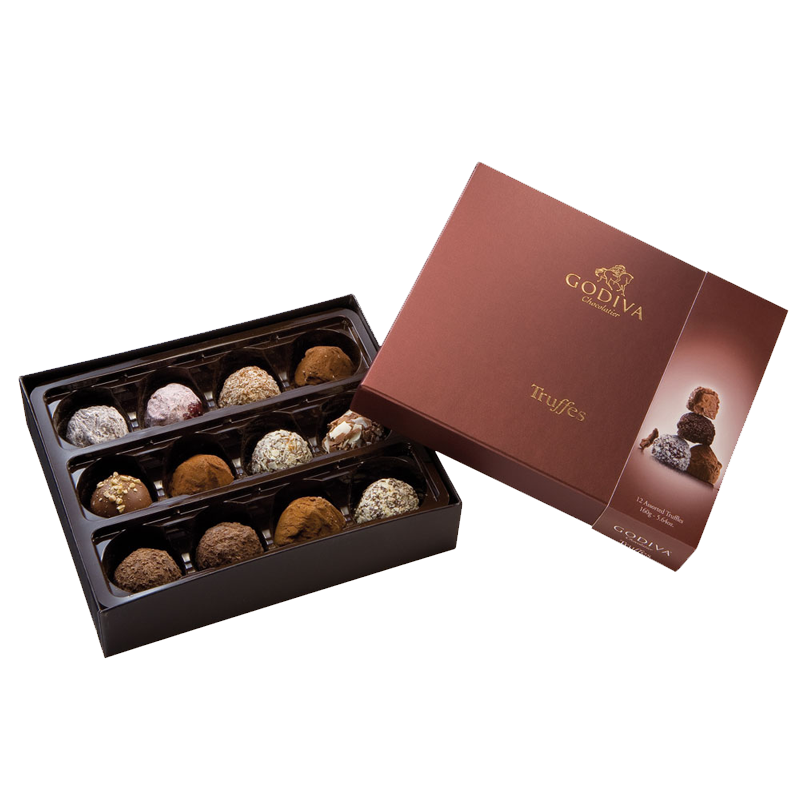 truffles12pc-chocolates 35 Most Mouthwatering Romantic Chocolate Gifts