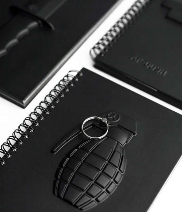 weapon-inspired-notebooks-5 Creative and Unique Notebooks for Mitigating Your Anger