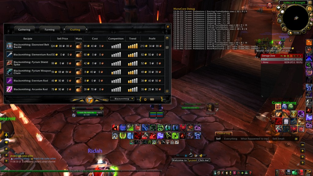 CraftingList How To Make Tons of Gold In WoW? Tycoon World of Warcraft Gold Addon Review