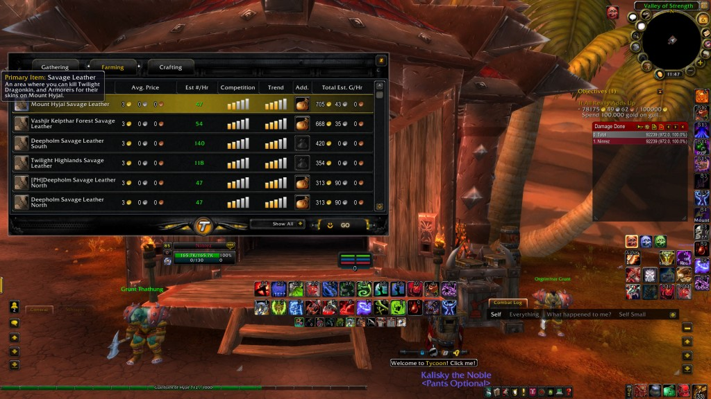 FarmingList How To Make Tons of Gold In WoW? Tycoon World of Warcraft Gold Addon Review