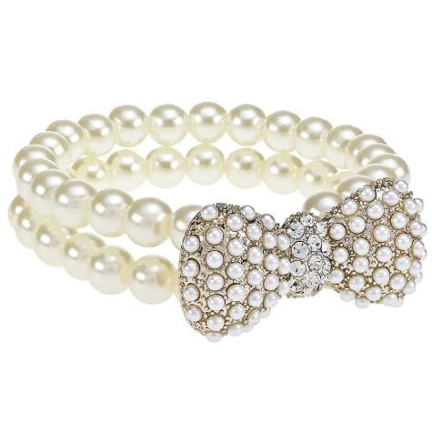 Lipsy-Pearl-Bow-Bracelet67T257FRSP-475x475 What Are The Best Types Of Pearls For Evenings And Occasions?
