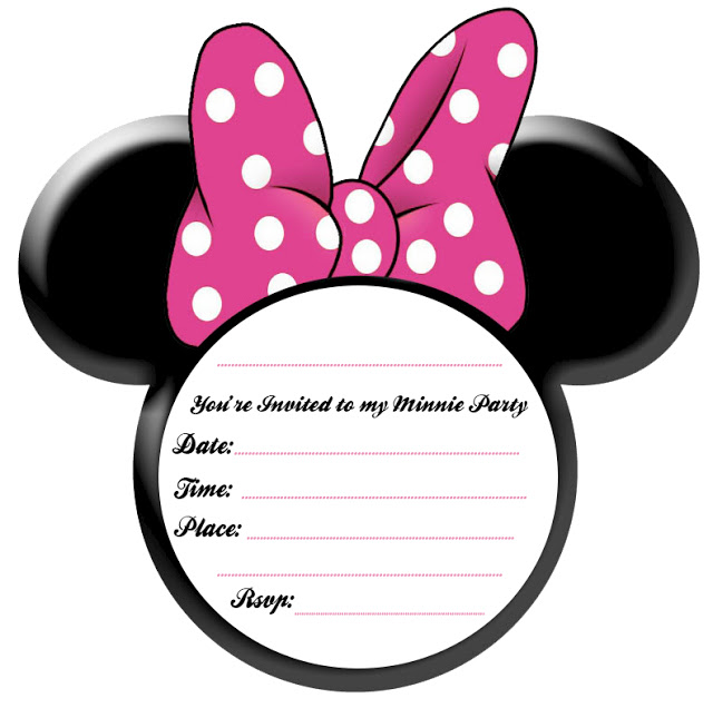 MINNIE-INVITE 50 Most Stylish printable greeting cards