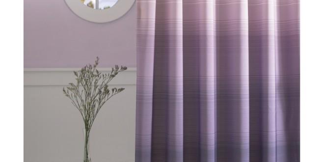 Ombre shower curtain purple ombre shower curtain skyline for Purple ombre shower curtain