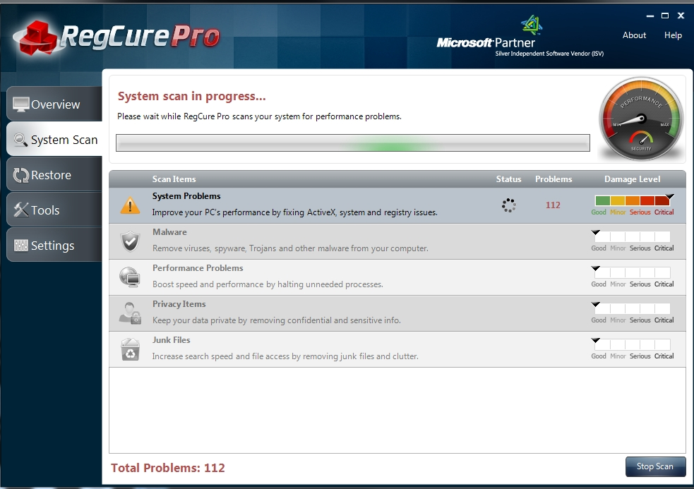 REgcure-Pro-Scan-interface How to Perfectly Analyze Your Registry for Errors Using Regcure?