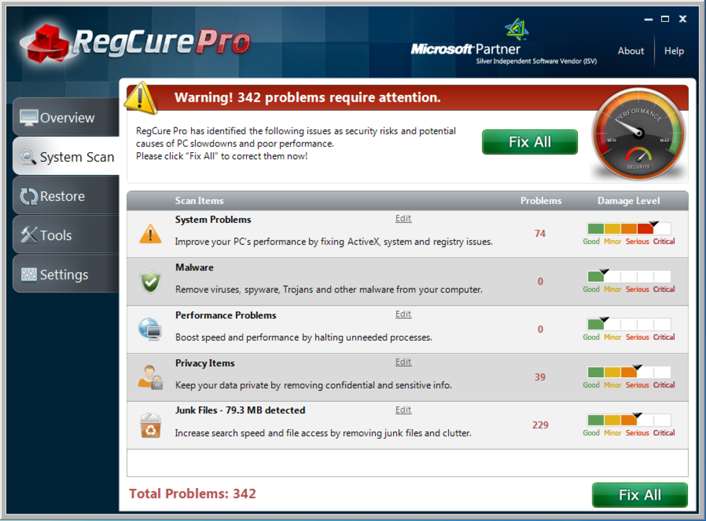 SS_Screen_Capture_1 How to Perfectly Analyze Your Registry for Errors Using Regcure?